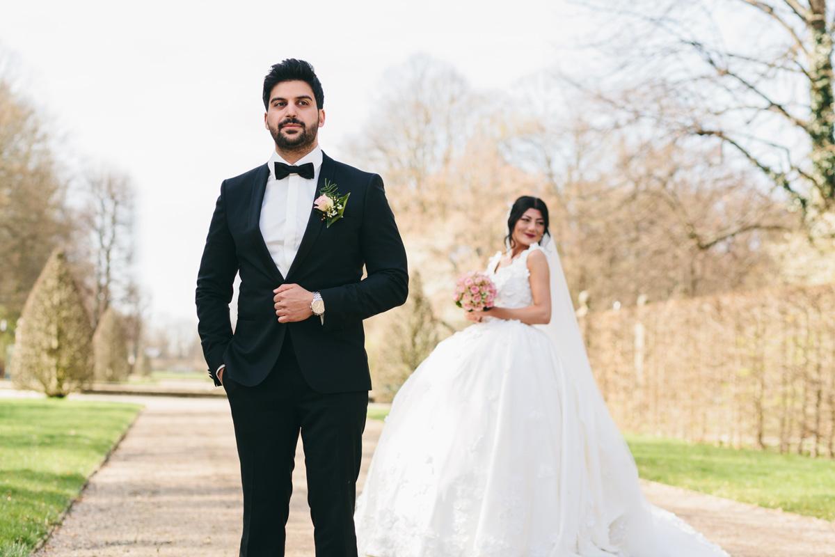 85mm Brautpaarshooting in Herrenhäuser Gärten